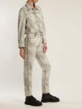 ECKHAUS LATTA Bleached high-rise straight-leg jeans ~ light-grey denim