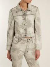 ECKHAUS LATTA Bleached-denim cropped jacket ~ light-grey jackets