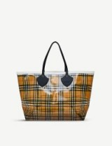 BURBERRY Vintage check PVC extra-large shopper ~ semi transparent shoppers