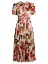 DOLCE & GABBANA Butterfly and padlock-brocade midi dress ~ beautiful vintage style dresses