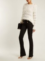 BALMAIN Black Button-detail kick-flare jeans ~ chic flares