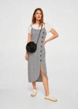 MANGO Buttoned check dress | checked print cami dresses