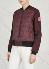 CANADA GOOSE Hanley quilted shell bomber jacket in bordeaux | dark red quilted jackets