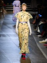 ERDEM Celestina yellow floral-embroidered long dress – vintage look