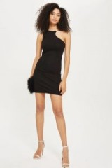 TOPSHOP Chain Curve Mini Bodycon Dress – cut away party dresses – fitted lbd