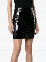 Charm's Vinyl Mini Skirt / shiny black skirts