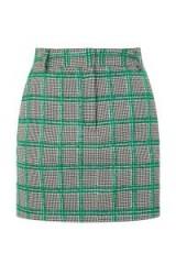 TOPSHOP Checked Pelmet Skirt / green checks