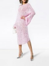 CHRISTOPHER KANE scoop back knitted jumper dress | slouchy pink sweater dresses