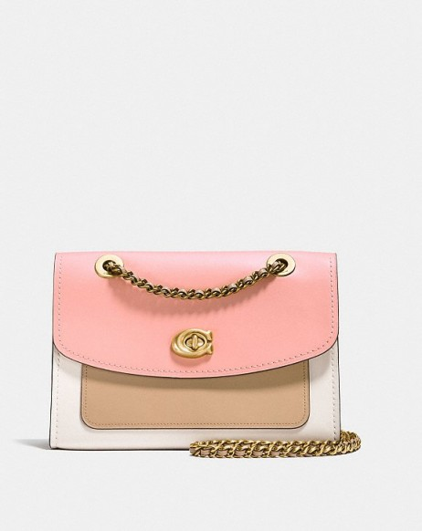 COACH Parker In Colorblock / pink handbags