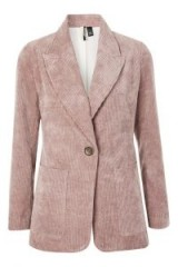 TOPSHOP Corduroy Single Breasted Blazer – mauve cord jackets