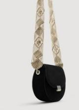 MANGO Crochet handle leather bag