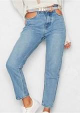 MISSYEMPIRE Danika Denim Cut Out Pocket Mom Jeans