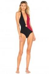 Diane von Furstenberg O RING CHEEKY PLUNGE ONE PIECE | plunging colour block swimsuits