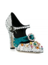 DOLCE & GABBANA glitter Mary Jane pumps – embellished Mary Janes