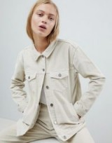 Dr Denim Cord Girlfriend Trucker Jacket – beige corduroy jackets