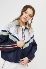 TOPSHOP Embellished Windbreaker Jacket