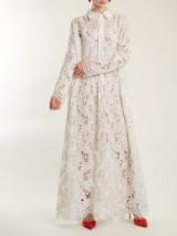 ASHISH Embroidered lace cotton maxi dress – long white shirt dresses