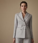 REISS ESTIE JACKET DOUBLE-BREASTED BLAZER GREY / tailored suit jackets