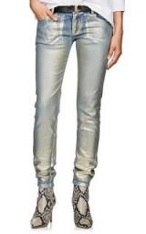 FAITH CONNEXION Painted Skinny Jeans ~ metallic denim skinnies