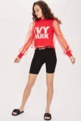 Ivy Park Festival Tulle T-Shirt | sheer sleeved tops