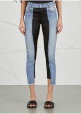 FILLES À PAPA Amber satin-panelled cropped jeans ~ step-hem