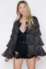 NASTY GAL Find Your Swing Tinsel Jacket. FRINGED JACKETS
