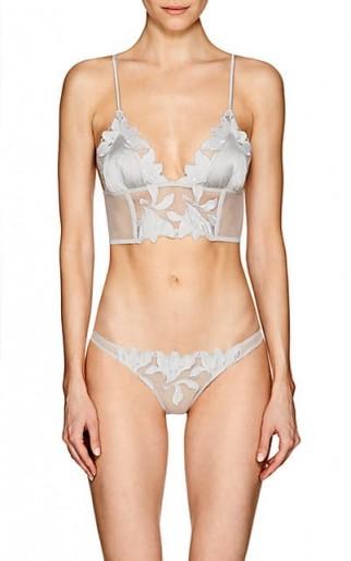 FLEUR DU MAL Lily Longline Bralette ~ plunge front bras ~ luxury lingerie