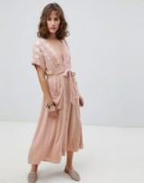 Free People Love To Love You Midi Dress | plunge front boho dresses