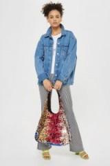 Topshop Freedom Sequin Shoulder Bag   boho bags