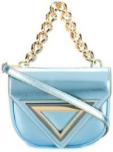 GIAQUINTO fold over bag | small metallic-blue bags