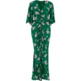 River Island Green floral print ruched front maxi dress ~ long gathered front party dresses