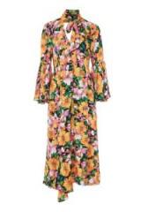 TOPSHOP Heavy Petal Chuck On Dress / romantic high neck drsses