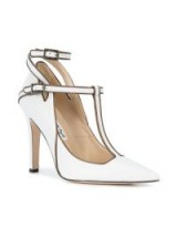 HENRI LEPORE DEZERT pointed Mary Jane pumps – white T-bar Mary Janes