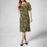 HOLLI BLUE YELLOW SILK DRESS ~ floral dresses