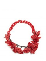 ISABEL MARANT Honolulu flower necklace / red floral jewellery