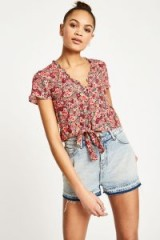 JACK WILLS HOPE FLORAL BLOUSE | pretty tie front blouses