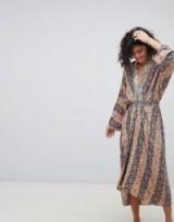 Intropia Printed Midi Dress ~ floral print dresses
