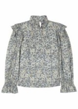 ISABEL MARANT ÉTOILE Ted printed linen top ~ romantic ruffled tops ~ spring style
