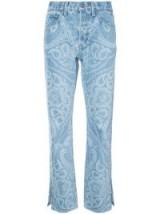 JONATHAN SIMKHAI paisley-print jeans ~ printed denim