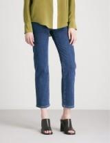 JOSEPH Den slim-fit-straight high-rise jeans in indigo ~ dark denim