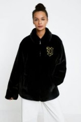 Juicy Couture X VFILES Black Faux Fur Jacket / fluffy black jackets