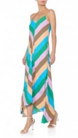 TIBI JULIAN STRIPE SLIP DRESS | long striped cami dresses