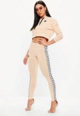 kappa nude authentic anen pants – logo print leggings – sporty look