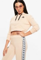 kappa nude authentic pullover fleece – hooded crop tops