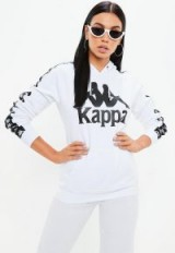 kappa white authentic hurtado fleece hoodie – hooded tops