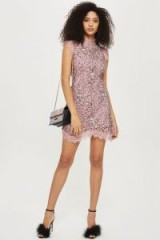 TOPSHOP Lace A-Line Mini Shift Dress – lilac party dresses