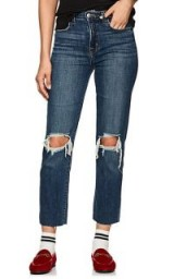 L'AGENCE Audrina Distressed Straight Jeans ~ ripped denim