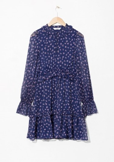 and other stories Layered Ruffle Dress / ditsy flower prints - flipped