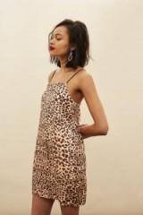 Topshop Leopard Mini Slip Dress | strappy animal print dresses | cami