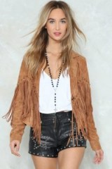 NASTY GAL Life's a Rodeo Fringe Jacket. BROWN FRINGED COWBOY JACKETS